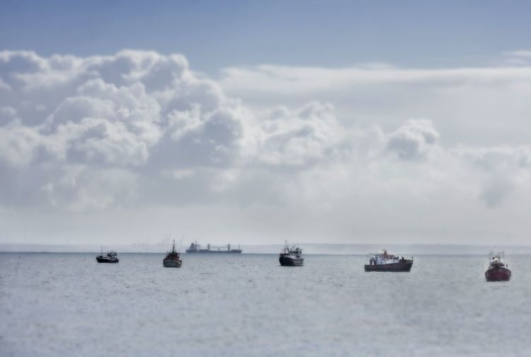 Boats in the bay! Sea View Clouds Ocean Sea Landscape Boat Stormy Weather Fishing