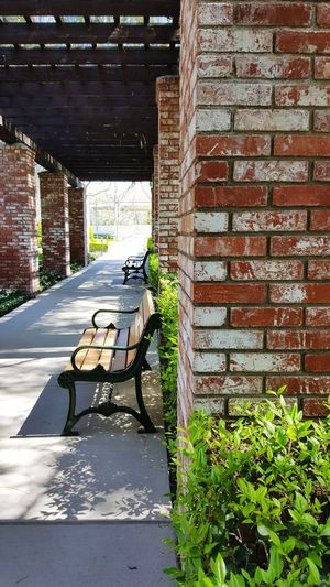 Gardensoftheworld Architecture Brick Columns No People Walkways  Restingplace Outdoors Day Plants Brick Wall Plant Building Exterior