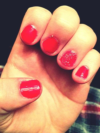 My nails actually look cute. :)