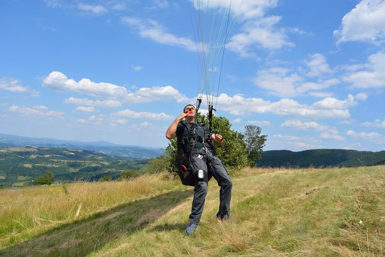 One Person Motion Nature Adventure People Sport Freedom Paragliding Flying Extreme Sports Nature Outdoors Day TakeOff EyeEmNewHere