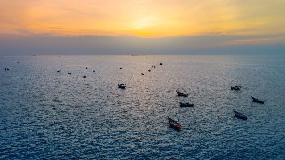 Beach Beachphotography Drone  Phantom Sea Sky Cloud - Sky Cloud  Silhouette Landscape Sun Sunset Photography Thailand