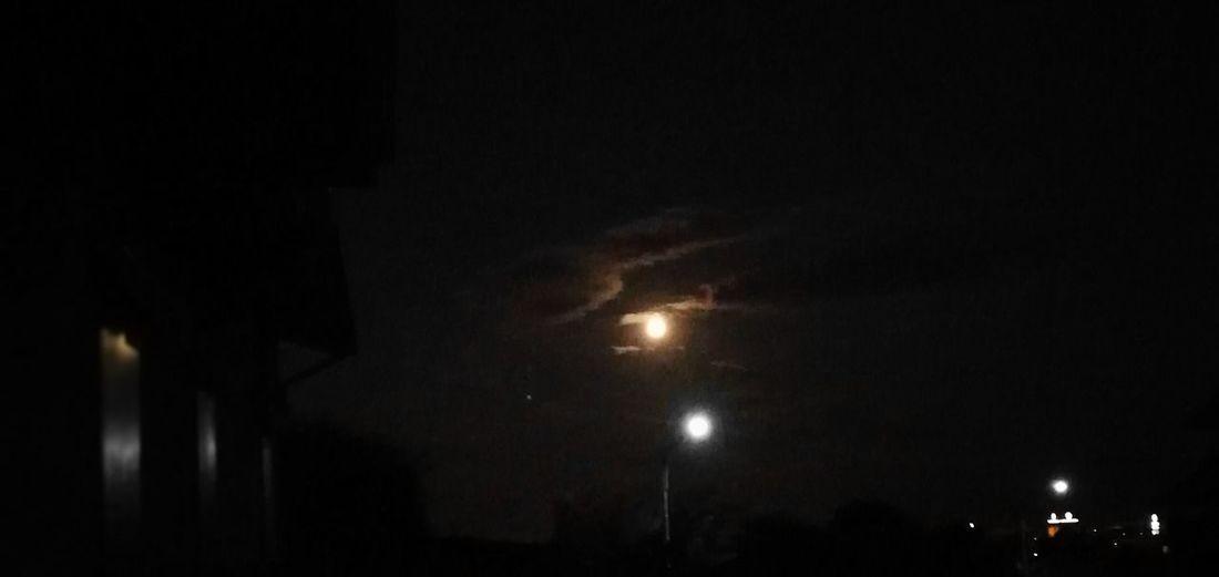 Night Illuminated Outdoors People Sky