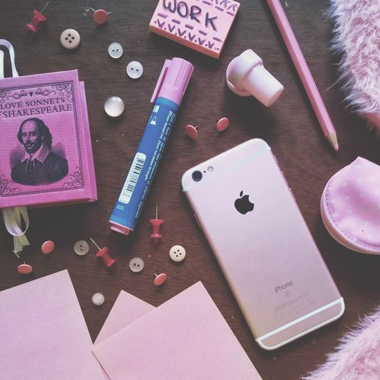 Millennial Pink Indoors  No People Note Pad Close-up IPhone Work Cute Desk Office Break The Mold