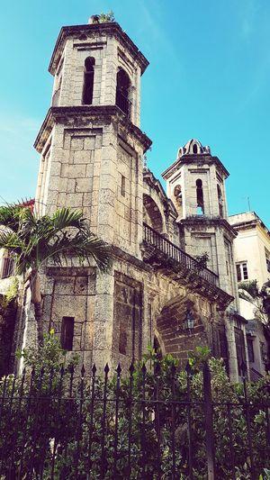 Church Architecture Caraibbean Architecture Church Caraibeen_landscape No People Blue Sky Palm Trees