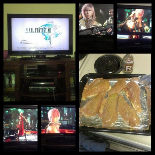 The good news is we fixed our #xbox. We cleaned it too. The bad news is my files got earased so I have to start over on #finalfantasyxiii. I got some #rosemary #garlic #chicken in the oven while I play for a bit. FinalFantasy13 Foodprep Chicken Wtfgo Cooking Gaming Xbox Garlic Videogames Xbox360 Rosemary Ilovecooking Finalfantasy FinalFantasyXIII Wtfgamersonly Ffxiii FF13