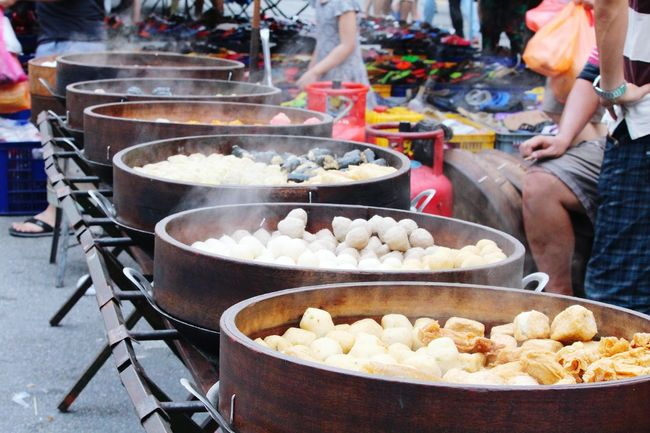 Chinese Food Food Fried Food And Drink Fast Food People Take Out Food Unhealthy Eating Wok Dumpling  Chinese Takeout Asian Food Preparation  Heat - Temperature Chinese Dumpling Steam Deep Fried  Adult Outdoors One Person