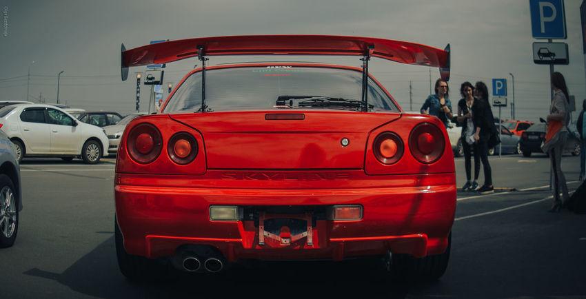 Red Automotive Photography Automotive On Style EyeEm Gallery EyeEm Best Shots City Street EyeEm City JDM Cars Jdm Nissan Nissan Skyline R34 Skyline Red Car