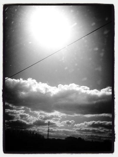 #traintoscotland #cloads #sunshine