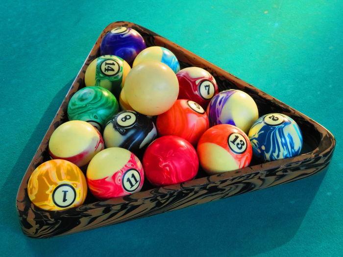 Florida Life - Outdoor Pool / Billiards Billiards Pool Table Outdoor Pool Multi Colored High Angle View Pool Ball Pool Table Cue Ball Pool Felt
