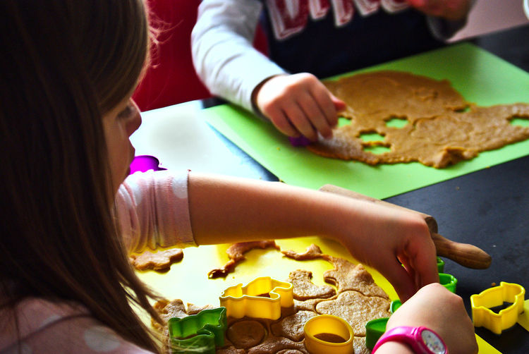 Cookies Easter Hands At Work Baking Childhood Children Only Dough Food Kitchen Real People Springtime Sweet Food