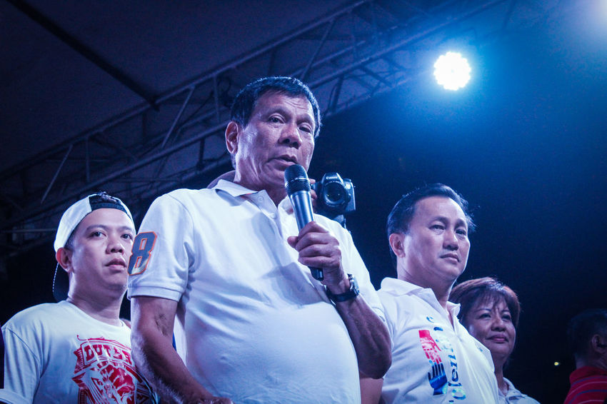 Rodrigo Duterte on his campaign in Muntinlupa before winning the presidential race in the Philippines. Campaign Elections Journalism Person Philippines President Rodrigo Duterte First Eyeem Photo