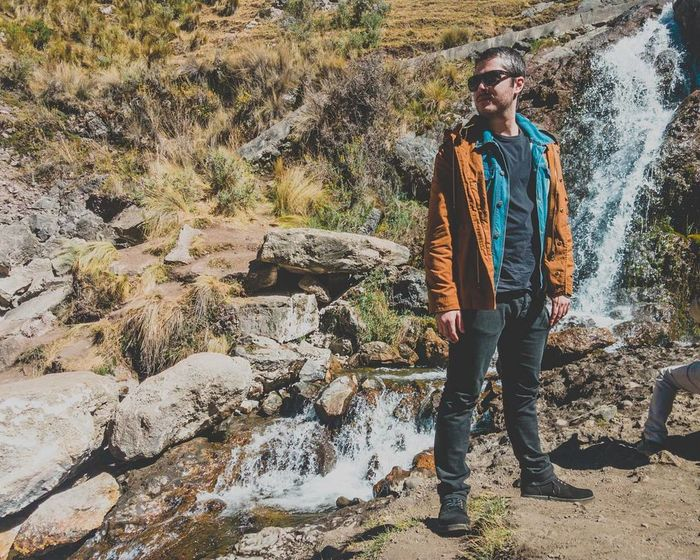 One Person Casual Clothing Day Outdoors Vacations Nature Peru Peruvian Travel Waterfall Roadtrip Andes Andes Mountains Low Angle View Peru Traveling Adventure Landscape Exploration Lifestyles