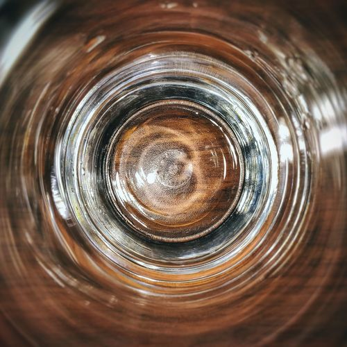Directly above shot of glass in water