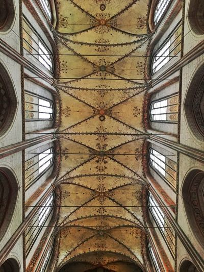 Architecture Inside Church Ceiling Geometry Baltics2k16