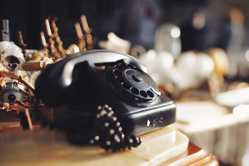 Give me call and I'll be there Design Talking Technology Retro Styled Close-up Telephone Communication Connection Indoors  Landline Phone Still Life No People Table Rotary Phone Nostalgia Number Antique The Past Focus On Foreground History Analog