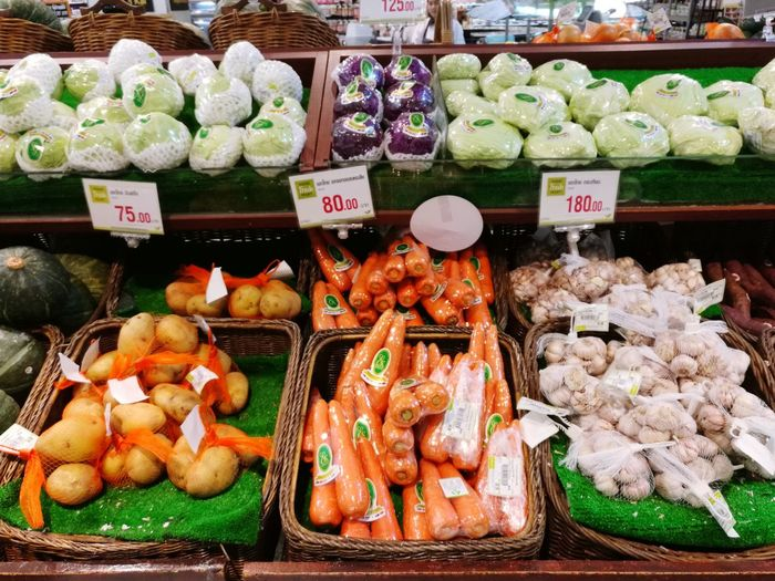 Freshness Market Food And Drink Food Supermarket Indoors  Price Tag Market Stall For Sale Choice Retail  Fruits ♡