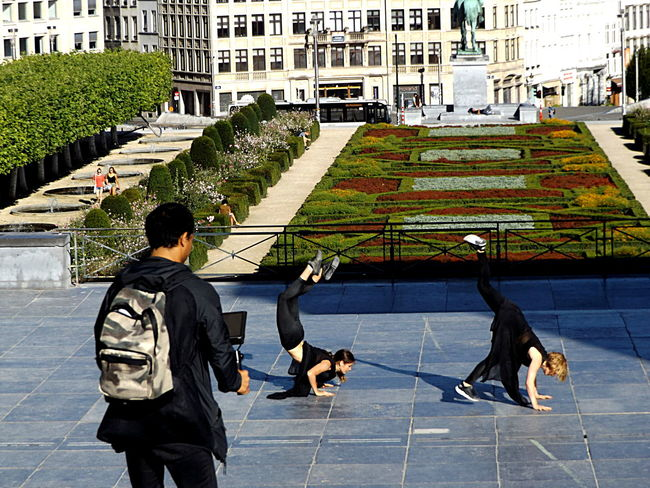 Act 10 - The end. Dancers Mouvement Artistique Movement In The Picture Video Director Togetherness Streetphotography Front View Public Places Showing Emotion Young Women Group Of People Visitbrussels Architecture Backpack City Life Outdoors Light And Shadow Full Length Duo Garden City Contrast Young Adult Dance Two Is Better Than One