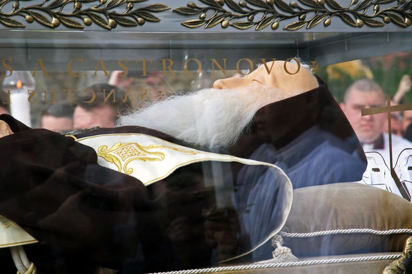 Welcome of St.Leopold Mandic's body in Zagreb,sarcophagus,3,2016. 2016. Body Cathedral Catholicism Christianity Church Croatia Crowd Eu Excitement Relics Religion Saint Sarcophagus St.Leopold Bogdan Mandic Zagreb