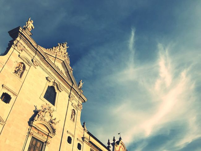 Tuscany EyeEm Selects Sky Low Angle View Cloud - Sky Architecture Religion Belief Place Of Worship Built Structure Building Exterior Spirituality Building The Past History No People Travel Destinations Outdoors Day