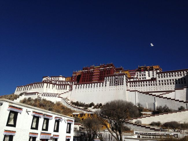 the Potala Place inLahsa,Tibet of China