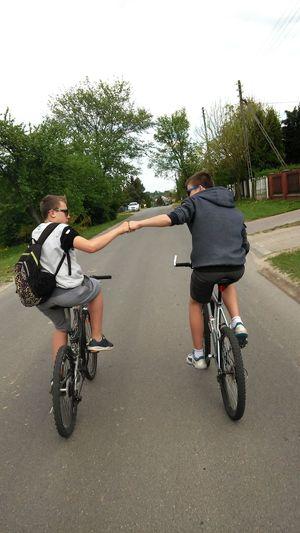 Snapshots Of Life Poland Trees Making Movies Bike Nature Travel Road Boys Way