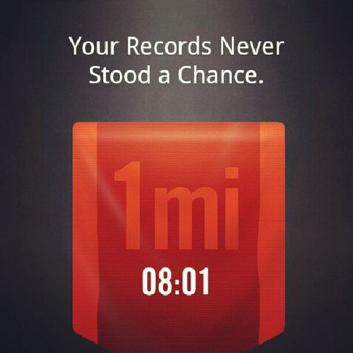 Beat me if u can/must/should/want/will/dare. Challenge NikeRun Run Running record justdoit better dobetter This is completely doable, its not even a great score, but i want to see u do better.