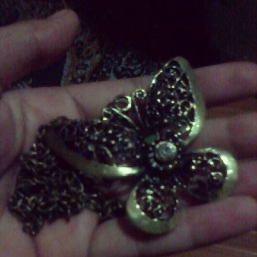 Thank you bestfriend for your pasalubong :** Butterfly Necklace 07 /30 Jam4ever <3
