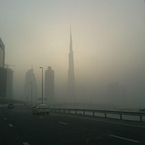 Mydubai Burj Khalifa Middle East Sand Storm Downtown Dubai DXB