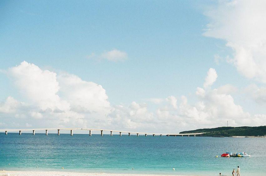 Summer Nikon Japan 35mm Film Film Photography Filmcamera NikonFM2 Sea Travel Beachphotography Sky And Clouds