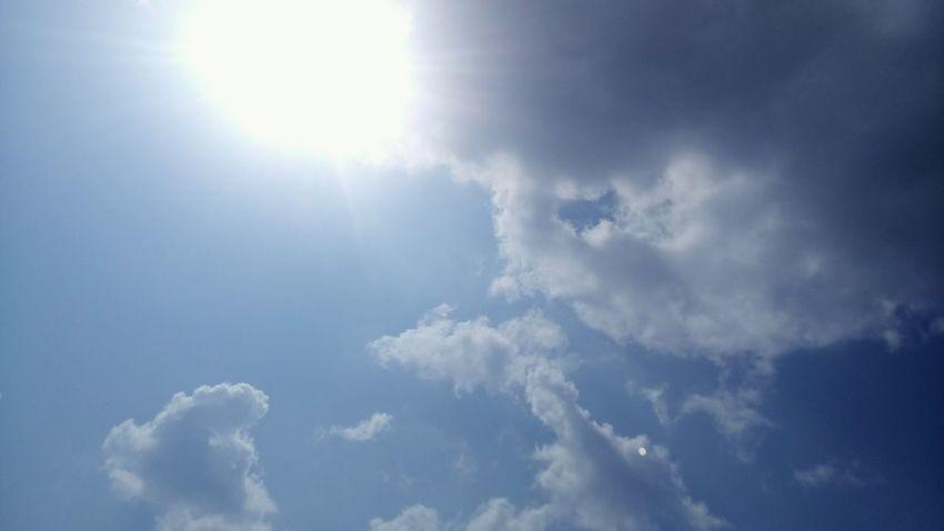 небо облака Sky Blue голубой