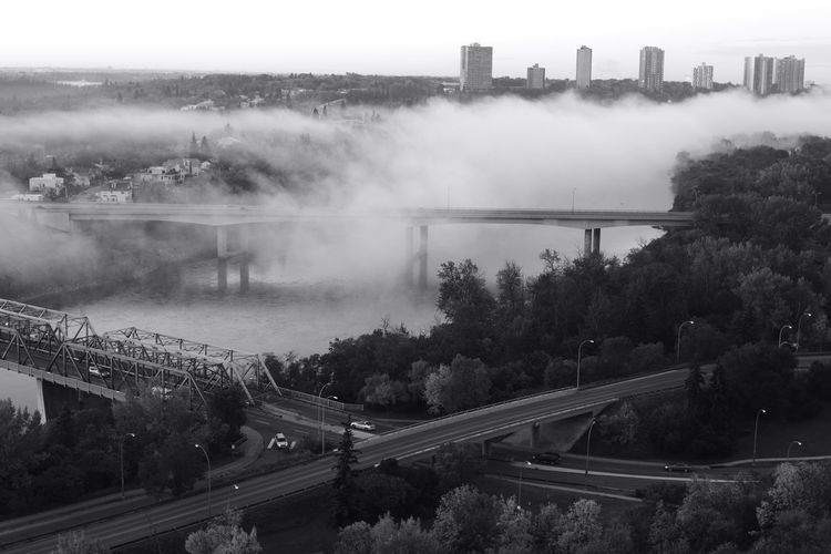 Blackandwhite City Cloud - Sky Day Fog Nature No People Outdoors Sky Tree Weather