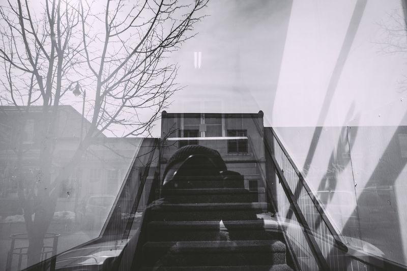 Reflection of photographer