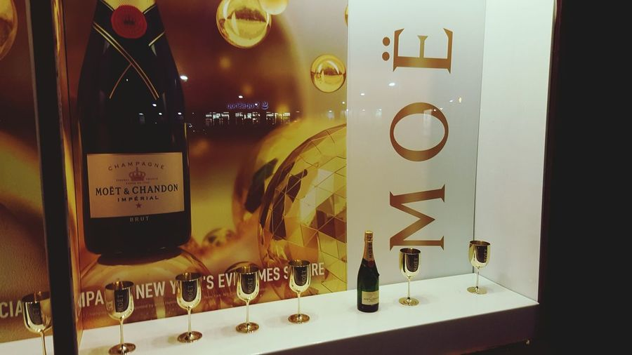 Moetetchandon Champagne Reflection Gold Discoball NY