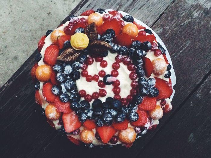 My granny is 90 y.o. Happy Birthday! Birthday Cake Birthday Cake Fruit Winter December Kratovo 42 Km 90 First Eyeem Photo