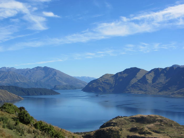 Walk Beauty In Nature Blue Day Lake Wanaka Landscape Mountain Nature New Zealand No People Outdoors Scenics Sky Tranquil Scene Tranquility Water