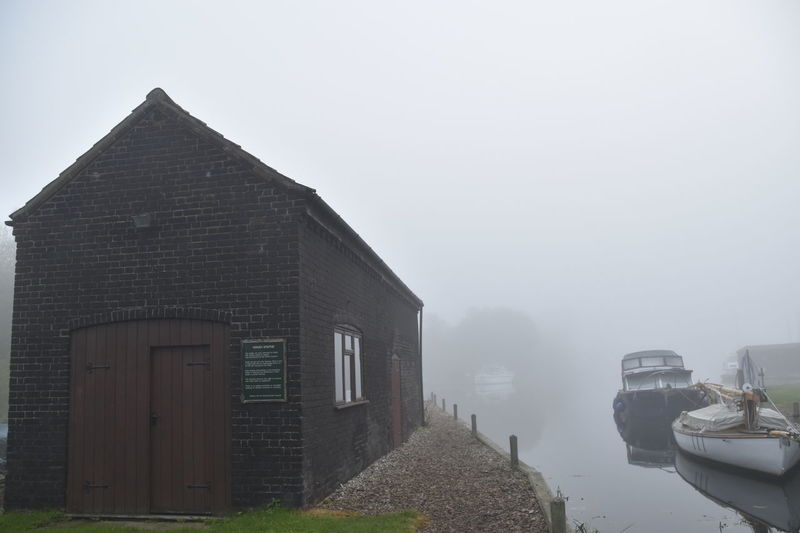 Architecture Barton Broad Barton Staithe Barton Turf Building Exterior Built Structure Day Fog History Military No People Norfolk Norfolk Broads Outdoors Peaceful Sky Tranquility Travel Destinations