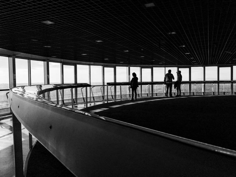 Set the controls for the heart of the sun Bw Curve Curved  Curved Lines Faro De Moncloa Madrid Madrid Medium Group Of People Moncloa Windows