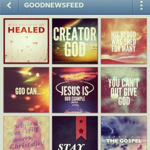 @goodnewsfeed inspired by these. :) Goodnewsfeed Amen