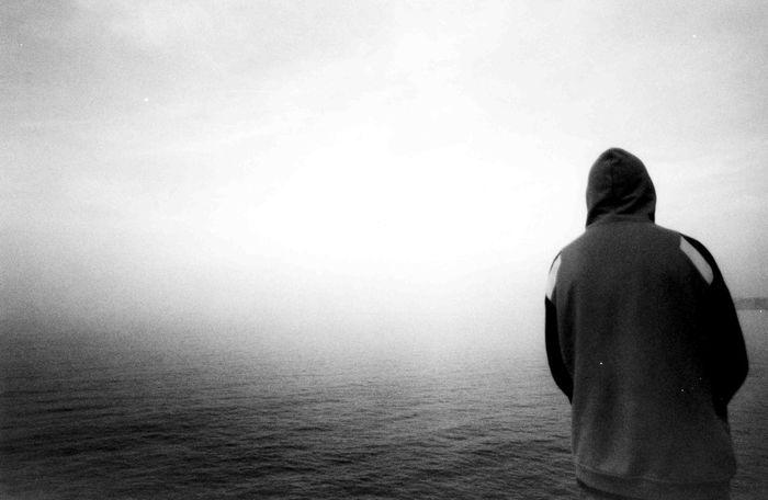 Shades Of Grey Infinity Monochrome Monoart Blackandwhite Film Filmisnotdead Sea Sea And Sky Seaside Infinity