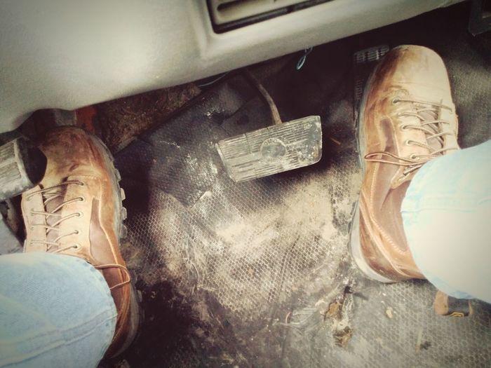 heavy feet.