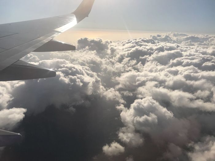 Somewhere only the clouds know Cloud - Sky Sky Airplane Nature Beauty In Nature Aerial View Airplane Wing Journey Cloudscape Transportation Majestic Scenics Travel Tranquility No People Outdoors Day Air Vehicle Flying Sky Only