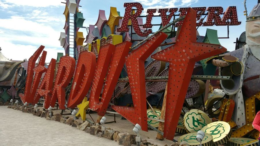 Neon Museum Outdoors Pattern Of Glass Illusion Natural Natural Light Colorful Illumination Limited Neon Sign Business Finance And Industry Rusty