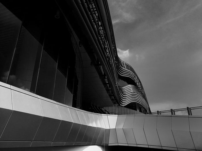 Architecture Built Structure Low Angle View Building Exterior Modern No People Colour Your Horizn
