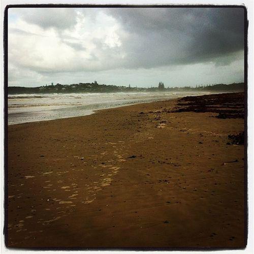 Beach Notsolovelytoday Rain Raining rainyday pouring rainydays water clouds cloudy puddle umbrella instagood gloomy rainyweather rainydayz wet splash TFLers downpour instarain