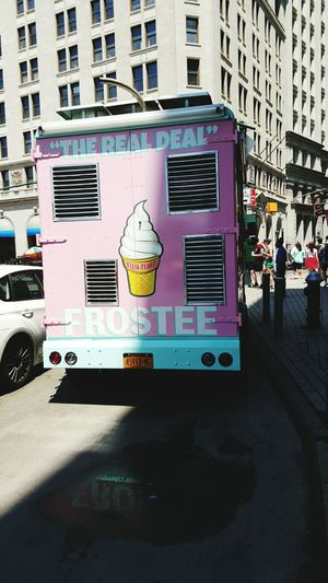 Frostee Ice Cream Truck Ice Cream New York Pink Pastel Streets Check This Out