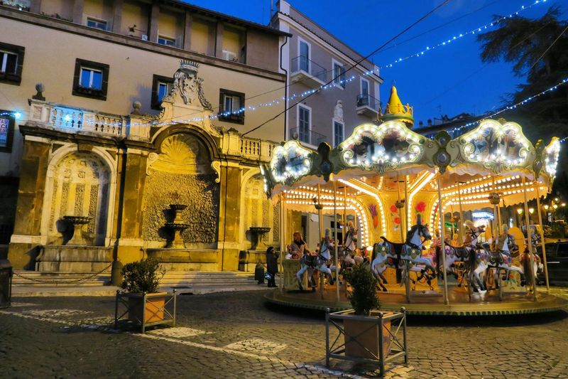 Frascati 🎠 Architecture Building Exterior Built Structure Illuminated City Night Building Group Of People Tree Decoration Street Nature Christmas Lights Lighting Equipment Celebration Real People Christmas Holiday Christmas Decoration Plant EyeEmNewHere