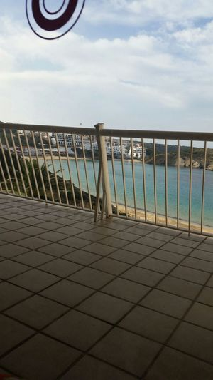 Railing Sky Sea Outdoors No People Water Menorca Architecture Geländer