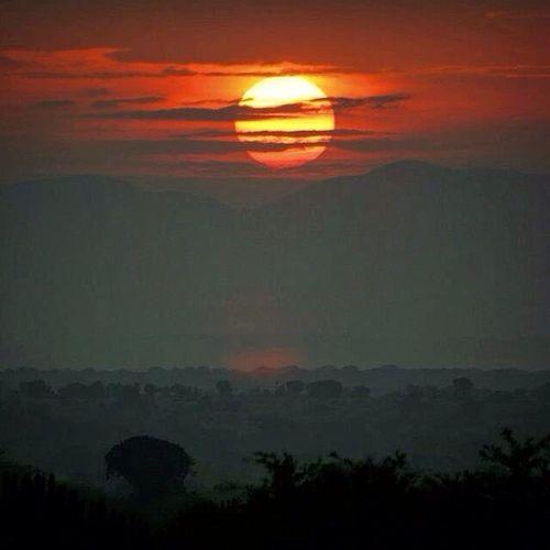 Sunset, Uganda Sunset Landscape Sunset Silhouettes Sun