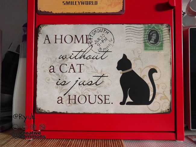 Communication No People Text TheVille Streamzoofamily Miau *-*  Cat Kot Neko Gatto Cat♡ Cats Of EyeEm Metal Sign Home Home Sweet Home Cat Home