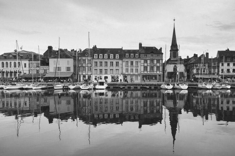 Blackandwhite Monochrome Streetphotography France Honfleur Reflection Nikon D750
